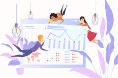 Analizzare concetto di vettore di dati di statistiche d'impresa royalty illustrazione gratis
