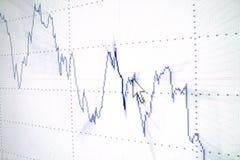 Analizzare del grafico Fotografia Stock