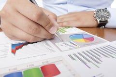Analizzare di dati di gestione Fotografia Stock