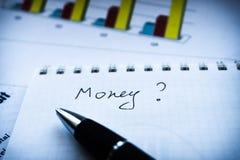 Analizzare dichiarazione di investimento e rapporto fianancial, business plan immagini stock libere da diritti