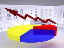 Analizzare grafico Immagine Stock