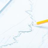 Analizzare i dati statistici Fotografia Stock