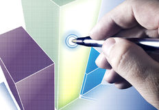 Analizzare i diagrammi Immagine Stock Libera da Diritti