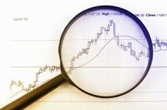 Analizzare il mercato azionario Fotografie Stock