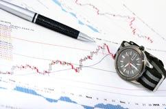 Analizzare il mercato azionario Immagine Stock