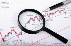 Analizzare il mercato azionario Fotografia Stock