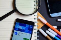 Analizzatore App di accessibilità sullo schermo di Smartphone immagine stock libera da diritti