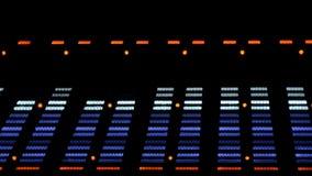 Analizzatore di spettro acustico dell'equalizzatore di immagine EQ stock footage