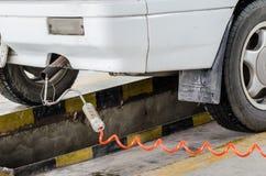 Analizzatore mobile automatico del gas di scarico Fotografia Stock