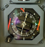 Analog aircraft navigation display Stock Photography