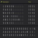 Analog airport scoreboard Stock Photos