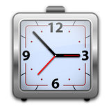 Analog alarm clock. Old time analog alarm clock, illustration Stock Images