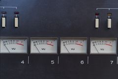 Analog Arrow indicators on the panel. Old analog Arrow indicators on the panel stock image