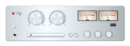 Analog audio device panel Stock Photo