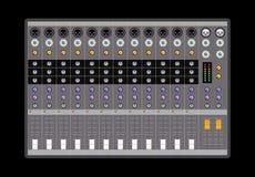 Analog audio mixer. Vector illustration Royalty Free Stock Photo
