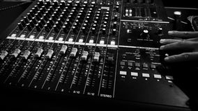 Analog audio sound mixer controller panel royalty free stock photography