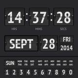 Analog black scoreboard digital week timer Royalty Free Stock Photos
