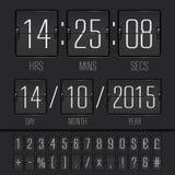 Analog black scoreboard digital week timer Royalty Free Stock Photo