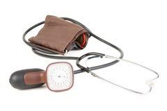 Analog blood pressure meter Royalty Free Stock Photography