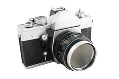 Analog camera. Old 35 mm analog camera Royalty Free Stock Image