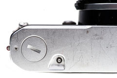 Analog camera limb on the bottom Stock Photography