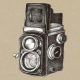 Analog camera vintage style illustration stock image