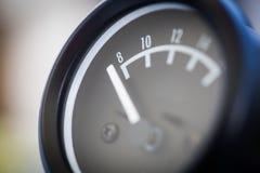 Analog car volt meter Stock Photos