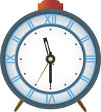 Analog clock. Vector analog clock witk alarm Royalty Free Stock Photography