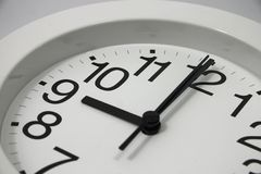 Analog Clock at 9 o'clock Royalty Free Stock Photo