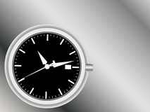 Analog clock face and hands Royalty Free Stock Photo