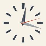 Analog clock face. Vector illustration of analog clock face for your design stock illustration