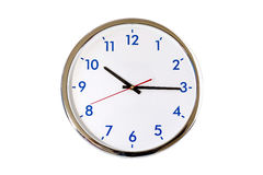 Analog clock isolated. On white background with clipping path stock images
