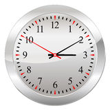 Analog Clock Isolated on a White Background Royalty Free Stock Photos