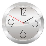 Analog Clock Isolated on a White Background Royalty Free Stock Images