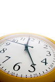 An analog clock just before the end of th Stock Images