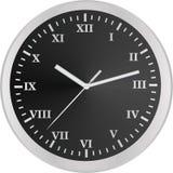Analog clock. roman numbers. Vector illustration Stock Photo
