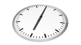 Analog clock time lapse zoom in royalty free illustration