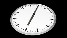 Analog clock time lapse zoom in stock illustration
