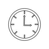 Analog clock , Vector illustration over white background Stock Photo
