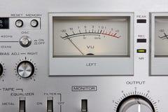 Analog controls dashboard Stock Photo