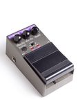 Analog delay efx pedal. An analog delay guitar effects pedal isolated on a white background Royalty Free Stock Images
