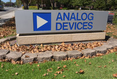 Analog Devices Logo. Fall falls on Analog Devices Royalty Free Stock Photography