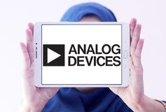 Analog Devices półprzewodnika firmy logo obrazy royalty free