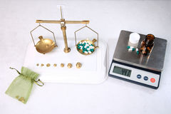Analog and digital scale royalty free stock photo