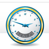 Analog and digital wall clock Royalty Free Stock Images