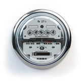 Analog electric meter  on white.  Electricity consumptio Royalty Free Stock Photo