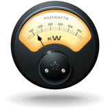 Analog Electrical Meter. Realistic detailed vector royalty free illustration