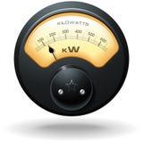 Analog Electrical Meter royalty free illustration