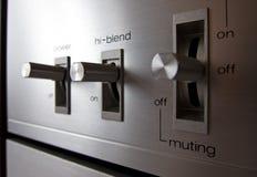 Analog electrical switch tumbler control Stock Image