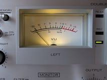 Analog Electronic Signal VU Meter Royalty Free Stock Photo